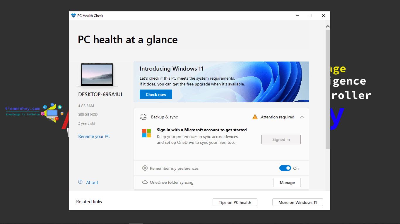 Cách kiểm tra máy tính có chạy được Windows 11 không