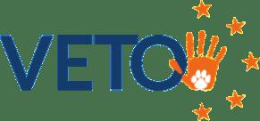 Logo von VETO                                                   Vereinigung                                                   europäischer                                                   Tierschutzorganisationen