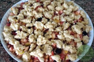 Apfel-Pflaumen-Joghurtstreu