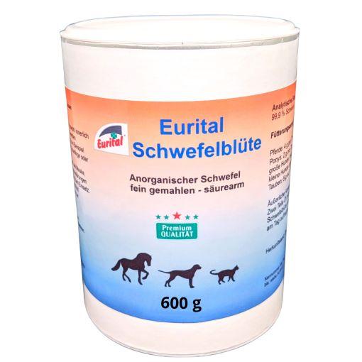 Eine Dose mit 600 gramm Schwefelbüte für Pferde Hunde und Katzen