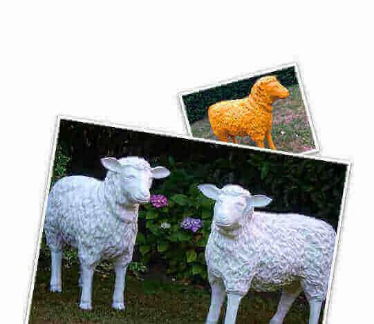 Individuell bemalte Schafe