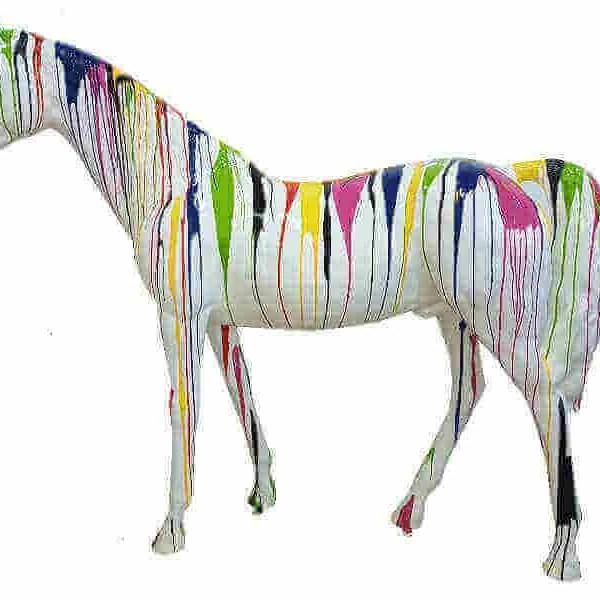 Deko Pferd kreativ weiss