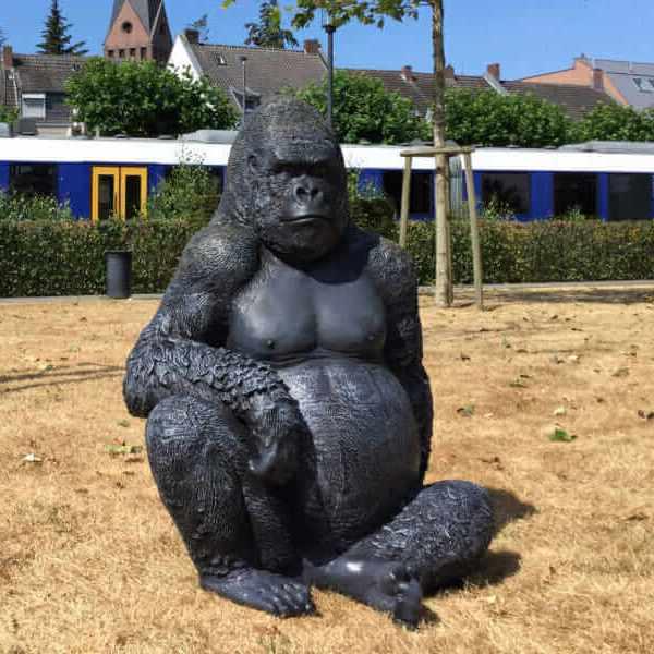 Deko Gorilla sitzend