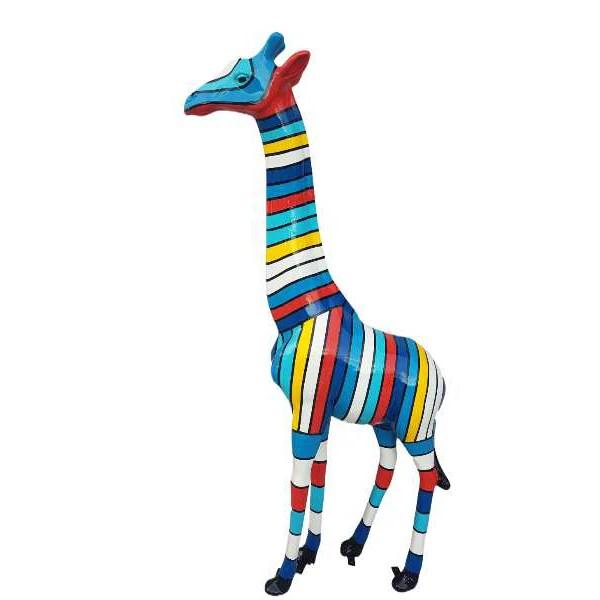 deko giraffe gestreift blau