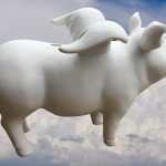 Rohling Sparschwein mit Fluegel