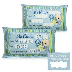 Almohada personalizada Tarta de pañales rubí niño
