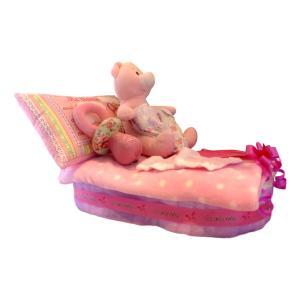 tarta de pañales cuna niña