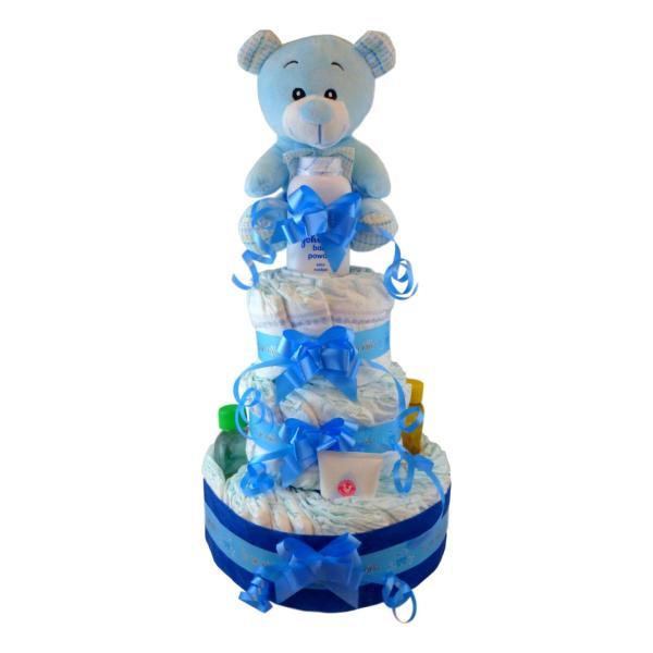 tarta de pañales dodot johnson para niño