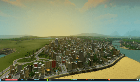 Cities Skylines - atardecer