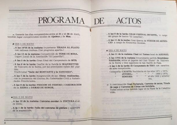 Programa de actos de la fiestas del Cristo de Valdelpozo de 1986
