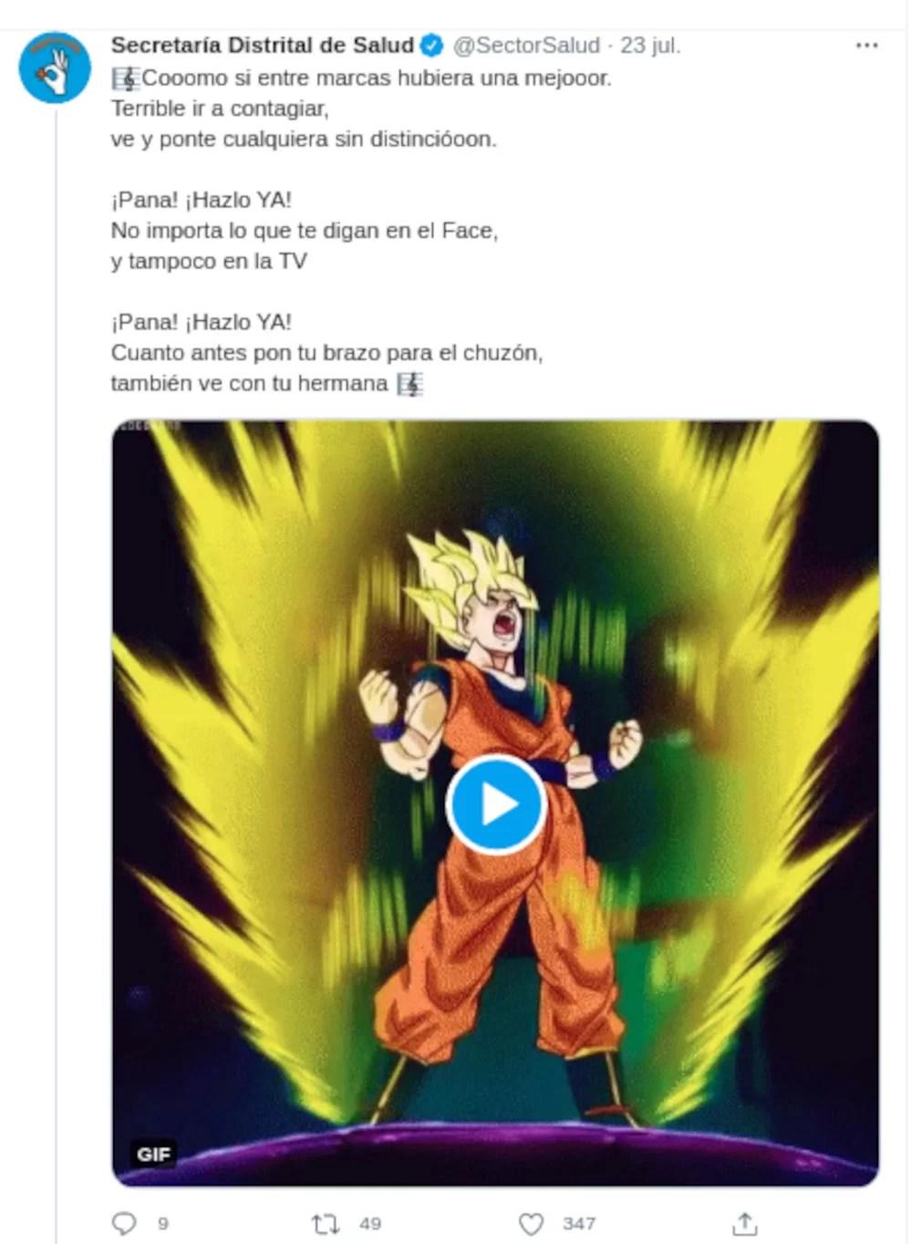 Dragon Ball Z Goku vs Coronavirus Twitter 03