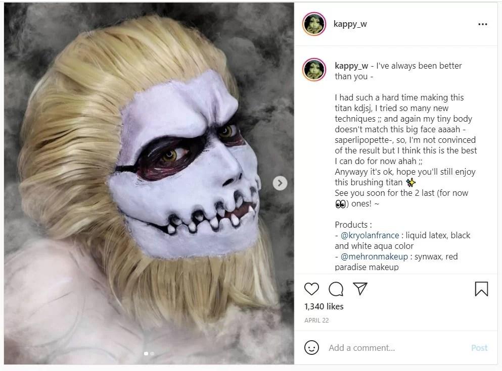 shingeki no kyojin titan jaw cosplay