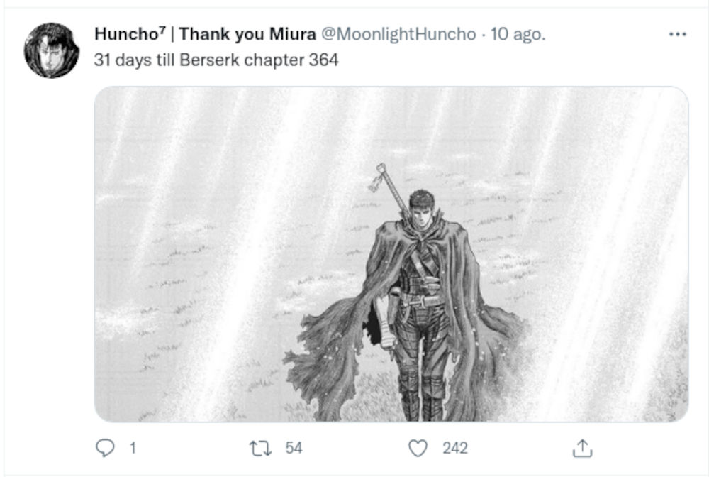 The new chapter of Berserk excites fans