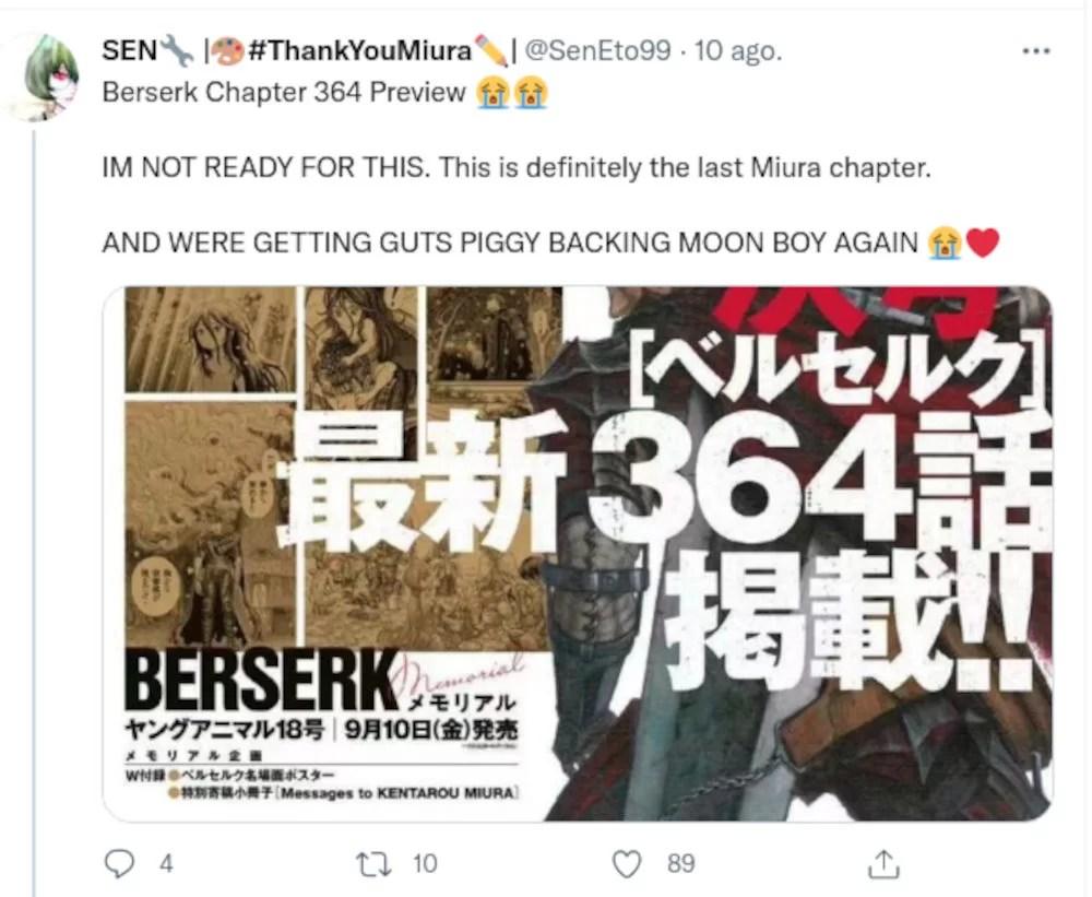 Berserk Nuevo Capitulo Reaccion Twitter 06