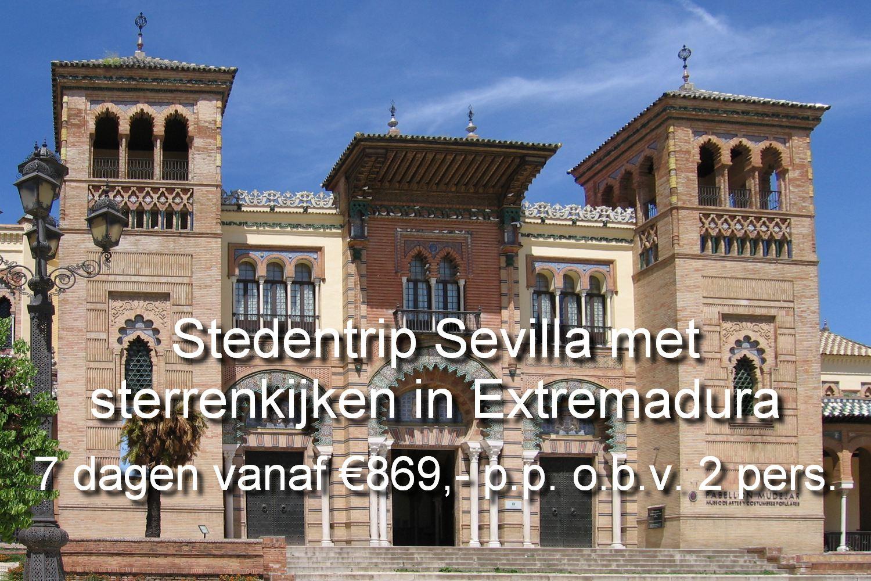 Een bijzondere astronomie ervaring is een uitstekende combinatie met een stedentrip naar Sevilla