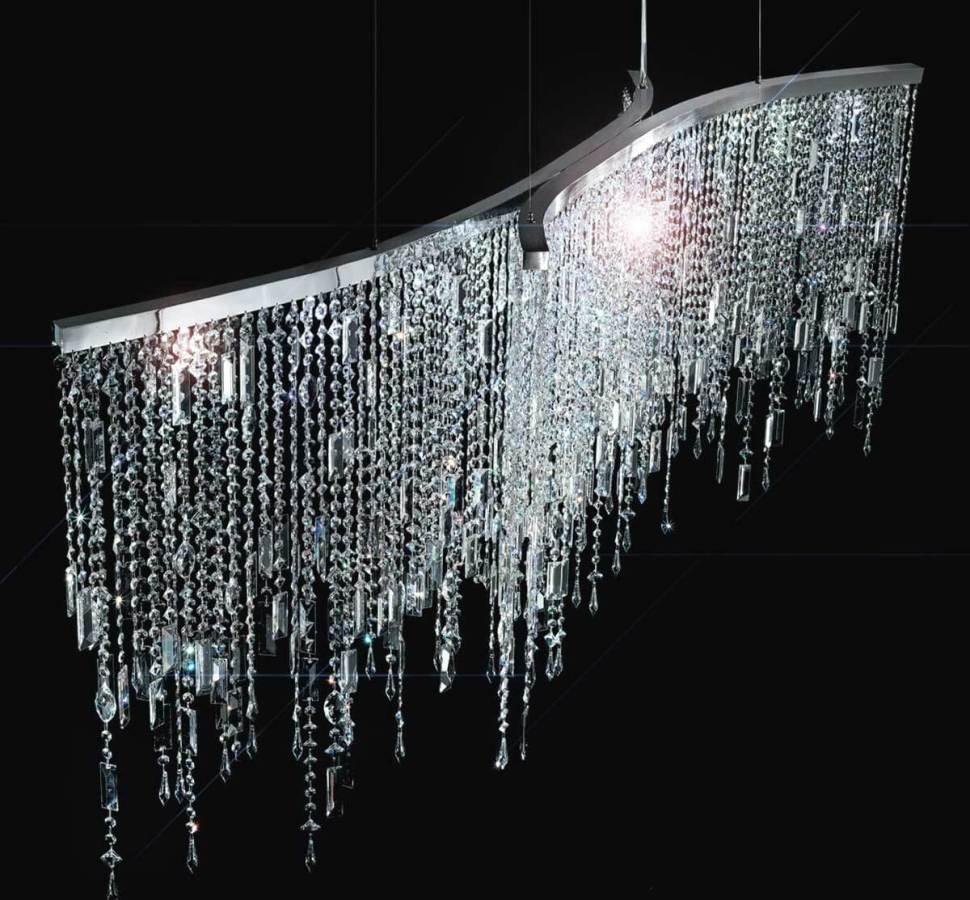 Lampara moderna cristales swarovski