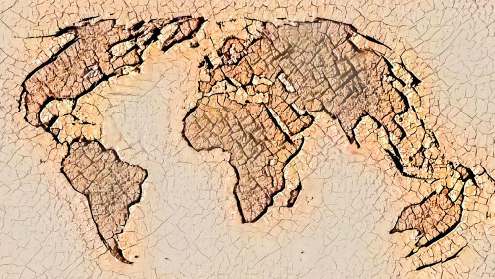tierra sin oceanos