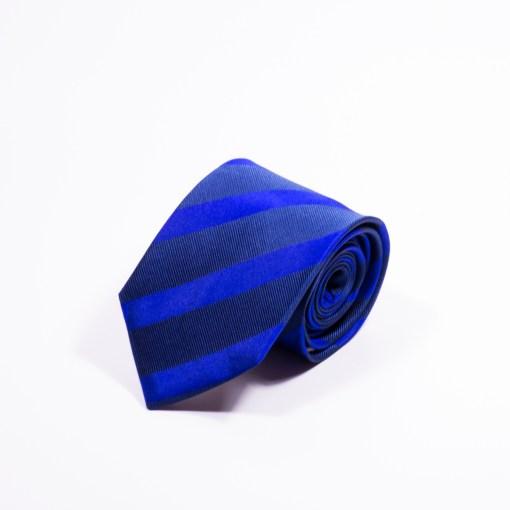 Gestreepte Stropdas Blauw