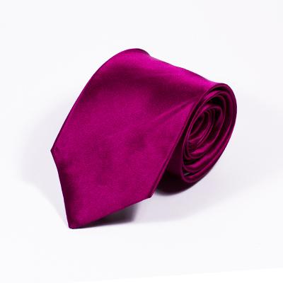 Burgundy stropdas zijde