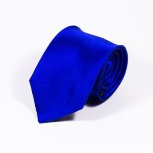 blauwe zijden stropdas