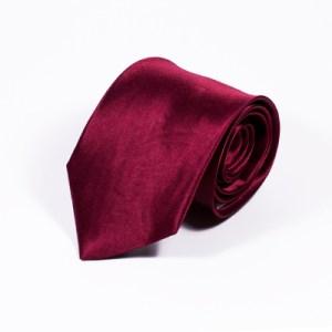 Bordeaux stropdas zijde