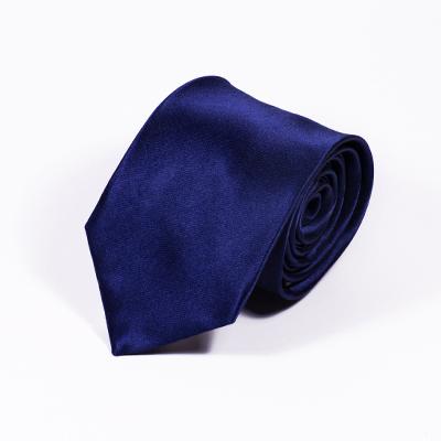 Blauwe stropdas zijde