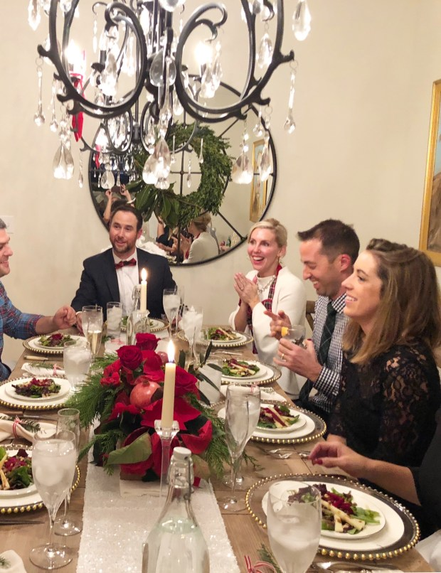 We hosted a small, intimate Christmas dinner with friends. Christmas decorations, personal chef and lots of FUN were the center of everyone's night.