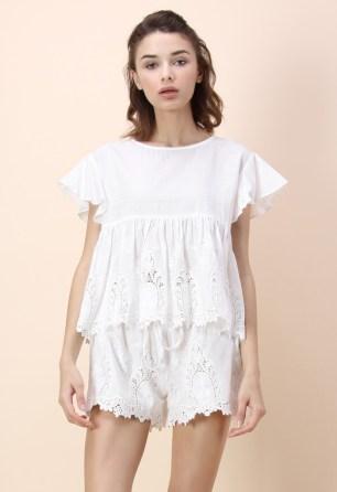 Chicwish White Short Set