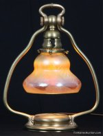 Tiffany Studios Pulled Feather Desk Lamp