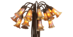 1: Rare Tiffany Studios 18 Light Lily Lamp