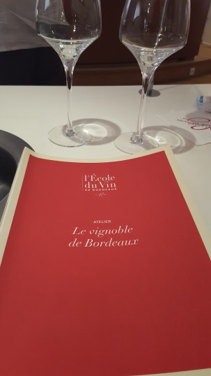 Cahier de cours de l'Ecole du vin de bordeaux