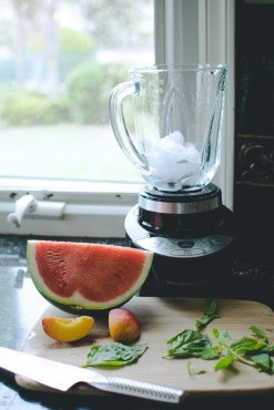Since we got a new blender, I've been blending tons of fruits to make fresh smoothies in the morning.