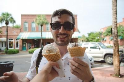 Josh with his Ice Cream