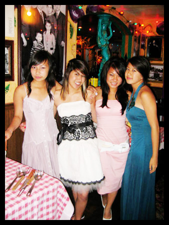 L-R: Vy, Me, Kim, & Viviane