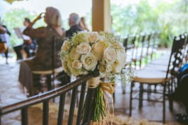 When Andrea & Josh visited Boston, Andrea had concerns over the floral arrangements because she couldn't physically be in Colombia to see what they'd look like. Looks like they turned out exactly how she wanted them: elegant!