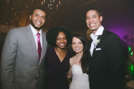 Christian & Vanisia, the beautiful parents of the adorable Caliah with the newlyweds.