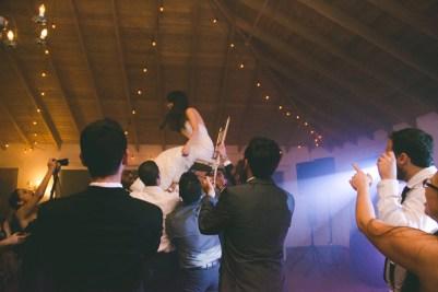What seemed like a Catholic ceremony ended with a little Hora.
