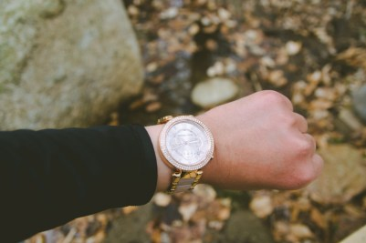 Took this watch when I was hiking in Acadia. Not the best watch to go hiking with since it's so pretty, but it's nice to know it's waterproof!