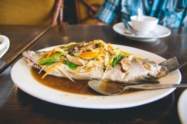 Steamed whole fish.