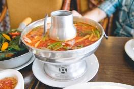 Tom Yum Seafood Soup.