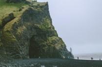 Iceland's famous black sand beach