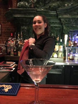 Our bartender Alarra.