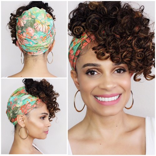 How to Wear a Head Wrap Style For Long Hair This Spring-Tutorial-Tiffany D. Brown