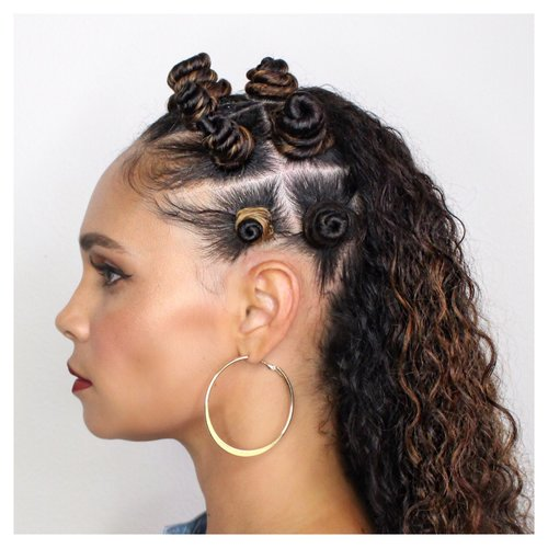 Easy Way To Style Bantu Knots On Long Curly Hair-Tutorial-Tiffany D. Brown