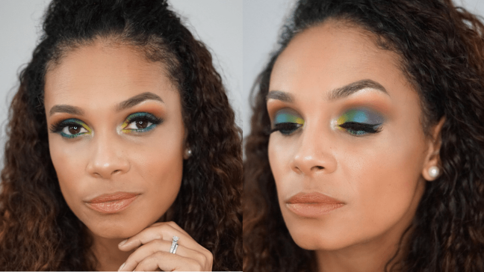 Fun Colorful Makeup Look That Is Great For Pride Month-Tiffany D Brown