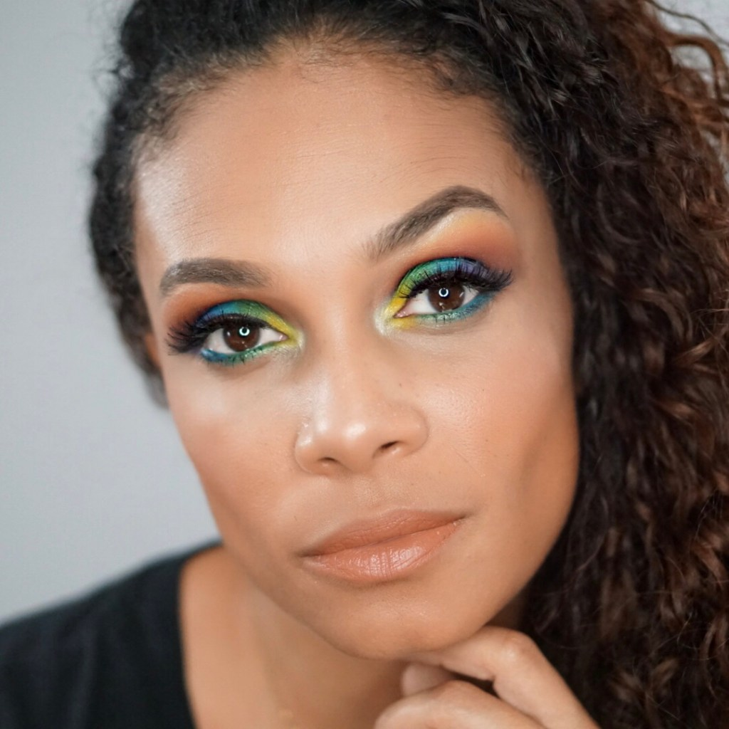 Fun Colorful Makeup Look That Is Great For Pride Month-Tiffany Nicole Brown