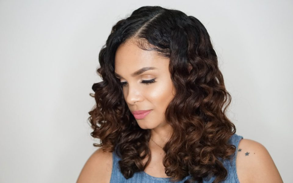 How To Do Perm Rod Set On Naturally Curly Hair-Tutorial-Tiffany D. Brown