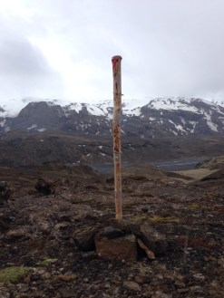 Our relationship with trail marking poles grew deep and meaningful.