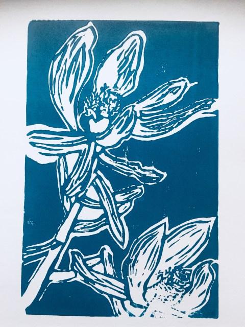 Leucadendron linoprint