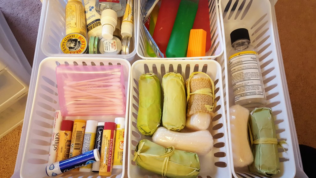 Bathroom Organization, Toiletries, Travel Containers